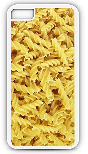iPhone 8 Plus 8+ Case Rotini Girandole Pasta Loose Spiral Customizable by TYD Designs in White Plastic Black Rubber Tough Case