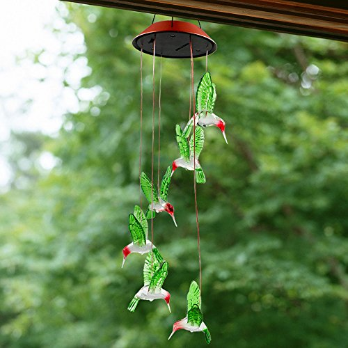 Color Changing Led Solar Mobile Wind Chime Bukm Solar