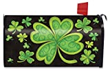 Briarwood Lane Happy St. Patrick's Day Magnetic Mailbox Cover Shamrocks Standard