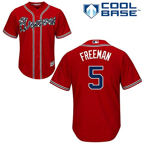 452742d50 ... Majestic Freddie Freeman Atlanta Braves MLB Youth Red Alternate Cool  Base Replica Jersey. Add to Wishlist loading