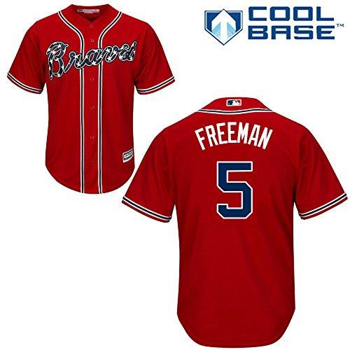 Majestic Freddie Freeman Atlanta Braves MLB Youth Red Alternate Cool Base Replica Jersey (Youth Medium 10-12)
