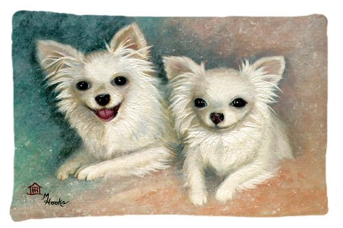 Large Carolines Treasures MH1064PILLOWCASE Chihuahua The Siblings Fabric Standard Pillowcase Multicolor