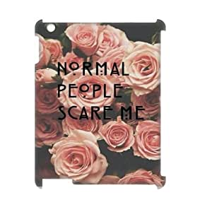 Normal people scare me Design Top Quality DIY 3D Hard Case Cover for iPad 2,3,4, Normal people scare me iPad 2,3,4 3D Phone Case