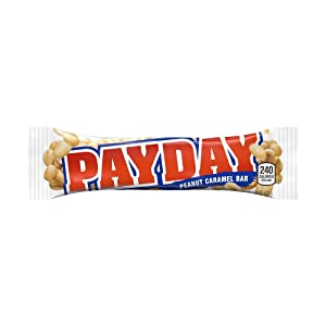 PAYDAY Halloween Candy, Peanut Caramel Candy Bar(Pack of 24)