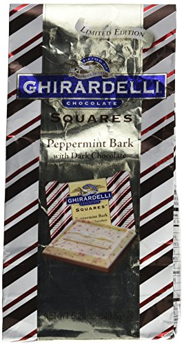 Ghirardelli Chocolate Squares LIMITED EDITION Peppermint Bark with Dark Chocolate 5.26 oz
