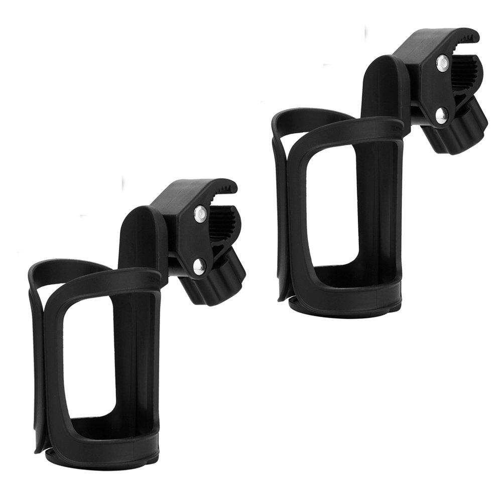 Pack of 2 Stroller Cup Holder 360 Degrees Rotation and Clip for Baby Kids Stroller Mountain Bike Wheelchair Golf cart Carry Coffe Cup Water Bottle Baby Accessories by tengdal (Image #1)