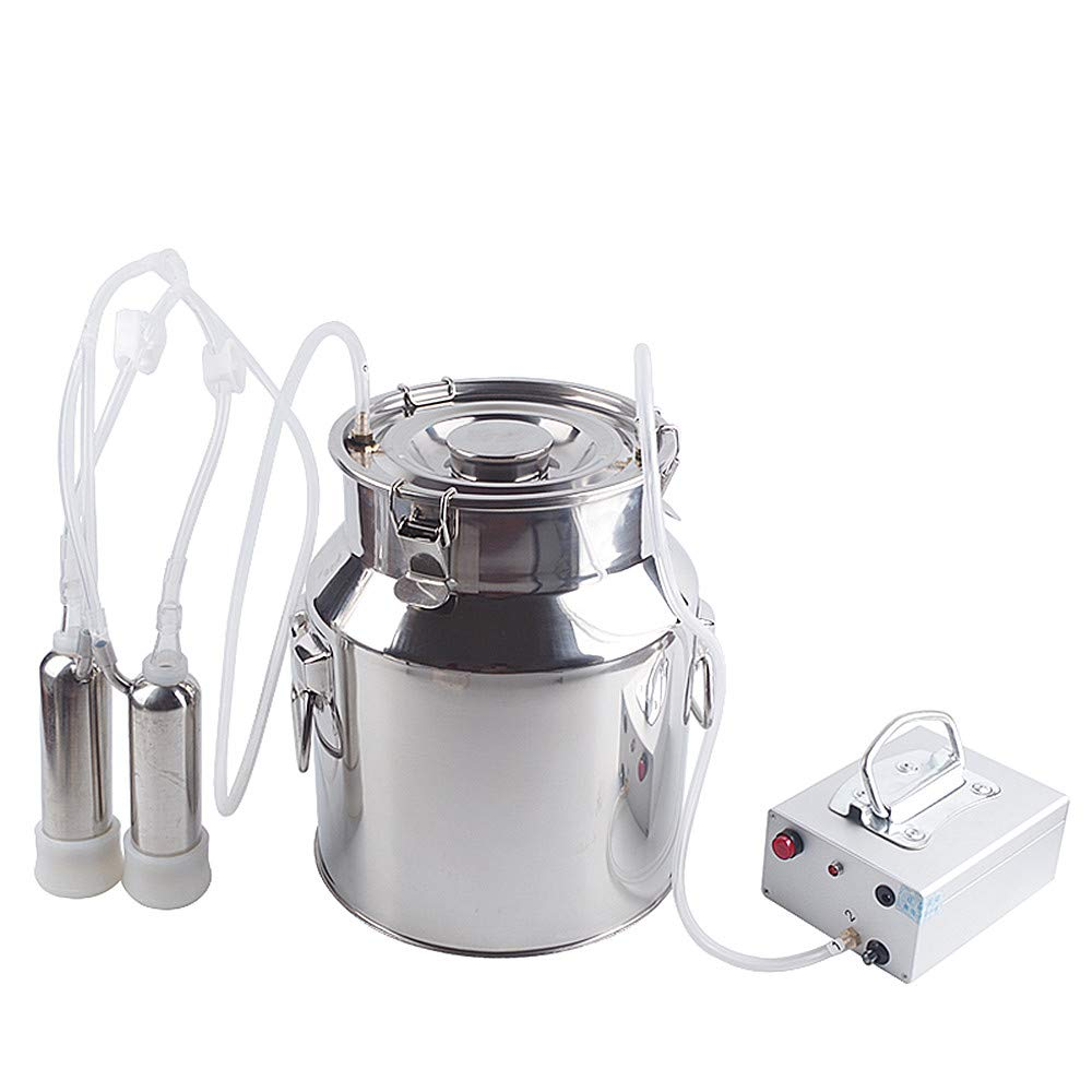 Futt 7L Single Bucket Piston Vacuum Milking Machine for Cows Cattle or Sheep Optional
