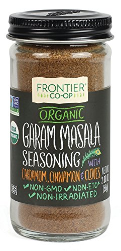 - Frontier Garam Masala Certified Organic, Salt Free Blend, 2-Ounce Bottle