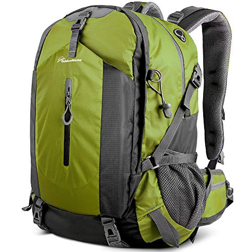 OutdoorMaster Hiking Backpack 50L - w/Waterproof Cover - Green