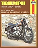 H136 Haynes Triumph Trident BSA Rocket 3 1969-1975 Motorcycle Owners Workshop Manual