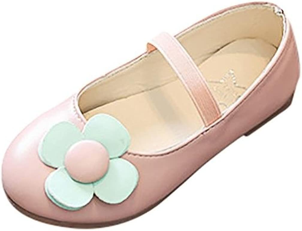 KONFA Teen Baby Girls Retro Bowknot Dance Single Shoes,for 3.5-9 Years old,Little Princess Elegant Flats Leather Boots