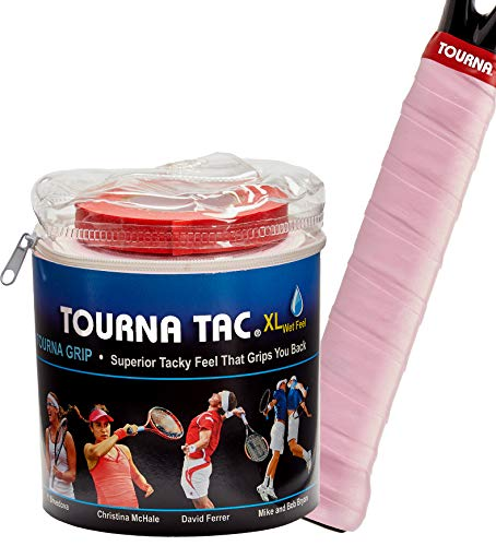 Tourna Tac Pink 30 Pack Travel Pouch Tacky Feel Tennis Grip
