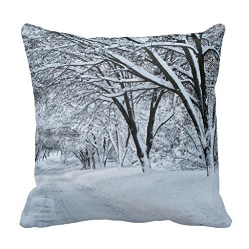 HuaXuAgr Generic Winter Burlap Joy Stylish Holiday Pillowcase 18