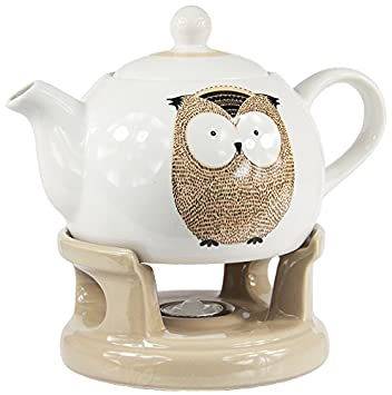 TeaLogic Teetrinker SET MIRELLA, Erdbeeren, Teekanne, Stövchen und ...