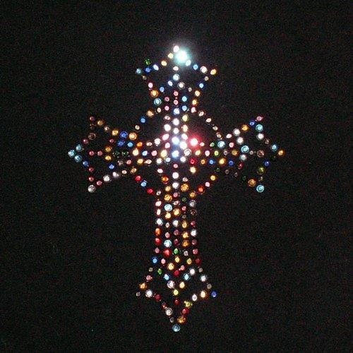 Cross Jubilee - Multi Cross Iron On Rhinestone Crystal Transfer by JCS Rhinestones