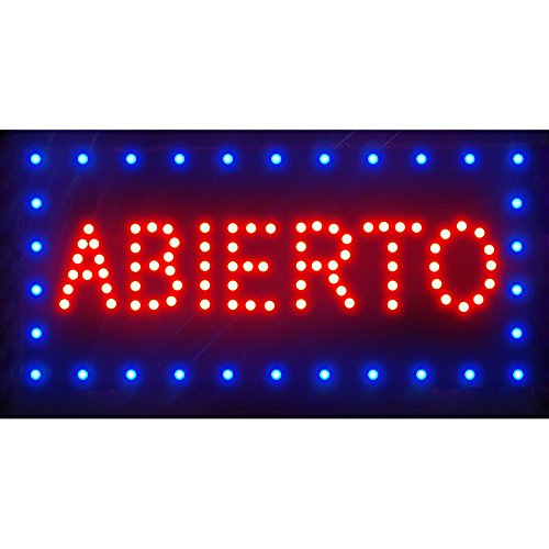 LED MOTION Animated Neon Sculpture Lamp Abierto Open Sign 19'