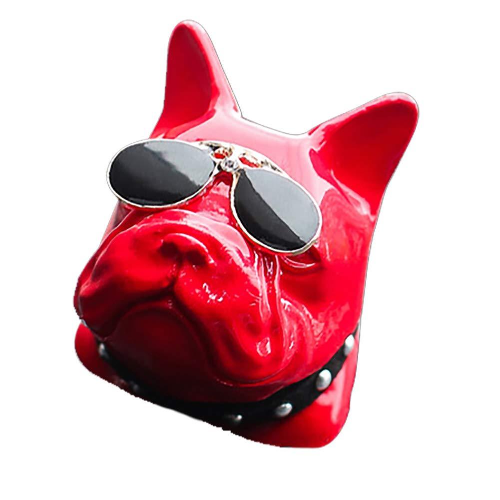 OUKEN Parfum de Voiture Parfum Clip Smell Clip Auto Voitures Aroma Pierre Dé sodorisant Red Dog Lunettes 1 PC