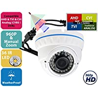 Evertech CDM368V.7OSD Metal Case Security Camera - 700tvl Dome Camera for Indoor Outdoor Night Vision...