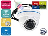 Evertech Varifocal CDM368IRV CCTV Security Camera(White) Day and Night Indoor Outdoor 700 TV Lines, 2.8 – 12 mm Adjustable Zoom LensEvertech Varifocal CDM368IRV CCTV Security Camera(White) Day and Night Indoor Outdoor 700 TV Lines, 2.8 – 12 mm Adjustable Zoom Lens For Sale