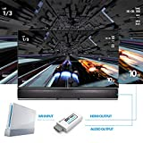 PORTHOLIC Wii to HDMI Converter with 5ft High Speed HDMI Cable Wii2HDMI Adapter Output Video&Audio with 3.5mm Jack Audio, Support All Wii Display Modes 480P,480I,NTSC, Compatible with Full HD Devices