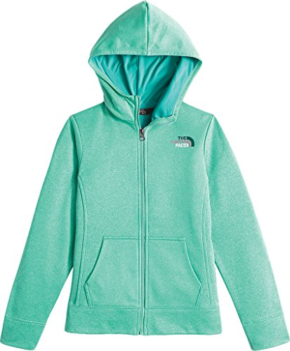 The North Face Surgent Full Zip Hoodie Girls' Ice Green Heather X-Large by The North Face (Image #1)