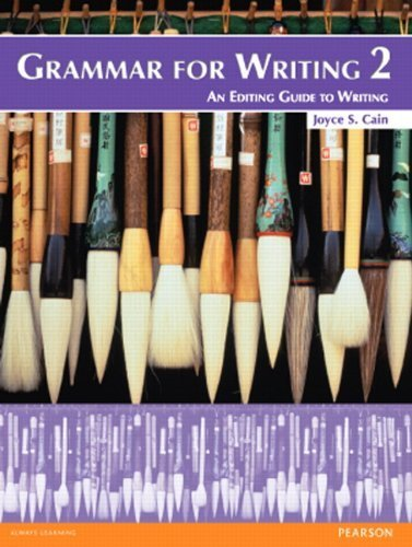 Download Grammar for Writing 2 (Student Book alone) 2nd edition by Cain, Joyce S. (2012) Paperback PDF
