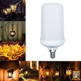 Ralbay E12 Base Flame Bulb 99pcs 2835 LED Beads Flickering Flame Effect Light 250 Lumens Nature Fire effect Antique Lantern Atmosphere for Christmas Hotel Bars Coffee Shop Home Decoration(Pack of 1pc)
