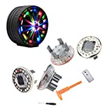 AUTOMONARCH 4 Pack Car Auto Waterproof Solar Energy Wheel Light Lamp Decorative Flashing RGB Colorful Flash light LED Tire Warning Light …