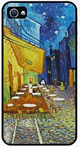 Midnight in Rodarte by Vincent Van Gogh - RUBBER iPhone 4 or 4s Cover, Cell Phone Case + Free Wristband Accessory by runtopwell