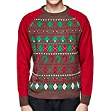 Blueberry Pet Ugly Christmas Men's Holiday Pullover Sweater, Medium