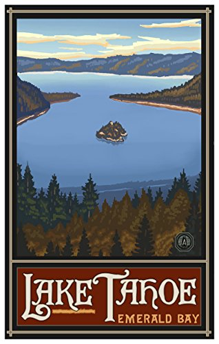 Lake Tahoe California Emerald Bay Travel Art Print Poster by Paul A. Lanquist (12