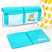 Bath Kneeler with Elbow Rest Pad Set (2-Piece), X-Long, Thick, Knee Cushioned Bathtub Support | Non-Slip Bottom, 2 Side Pockets | Hypoallergenic Padding | Blooop Bath Kneeling Pad