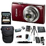 Canon PowerShot ELPH 180 20 MP Digital Camera (Red) w/ 32GB Accessory Bundle