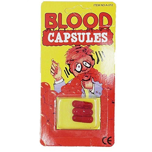 SGS Blood Capsules Fake Funny Toy Halloween Prop - 15 Pack (Halloween Blood Capsules)