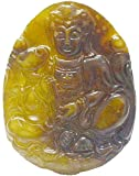 Lucky China Pendants Chinese Jade Hand-carved Hetian Jade Kwan-yin Pendant