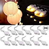 LOGUIDE Led Lantern Lights,24 Pack Warm White,LED Lights for Paper Lanterns Balloons Floral Festival Decoration String Lights