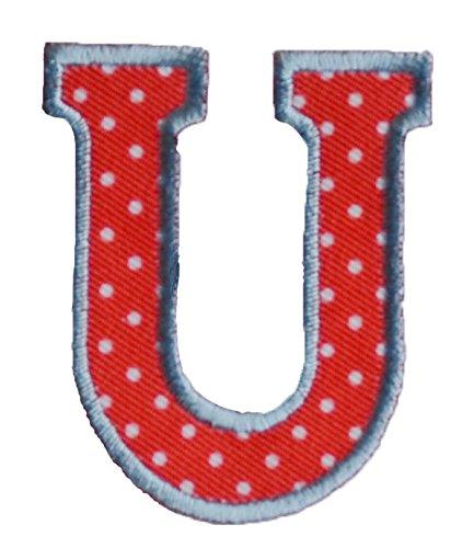 U maiuscolo 5cm rojo blanco Arte Arreglar Apliques Algodón Accesorio para reparar placa pañuelo bandera bolsillo ropa chaqueta almohada bolsa roca ...
