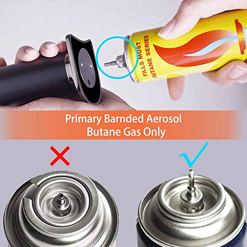 Gift Wrap. Premium Chef Culinary Butane Torch Lighter, Refillable Handheld Kitchen Cooking Blow Torch with Flame Lock and Adjustable Flame for Crème Brulee, Food, Cigar and Welding (Gas Not Included) by Qsince (Image #6)