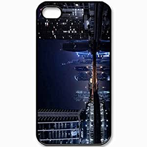 Protective Case Back Cover For iPhone 4 4S Case Dubai Lights Black