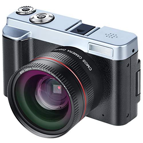 GorNorriss Electronics Gadgets P12 Digital Camera + Telephoto Lens Camcorder Full HD WiFi Rotation Flip Screen