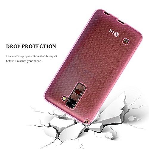 Cadorabo �?>                                              LG STYLUS 2                                              < Cubierta protectora de silicona TPU en diseño AIR �?Case Cover Funda Carcasa Protección in NEGRO TRANSPARENTE-ROSA