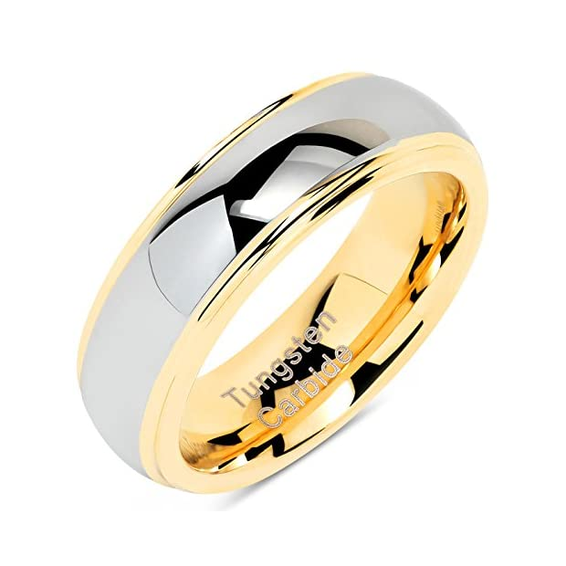 100S-JEWELRY-6mm-Tungsten-Rings-For-Men-Women-Wedding-Band-Two-Tones-Gold-Silver-Engagement-Size-5-13