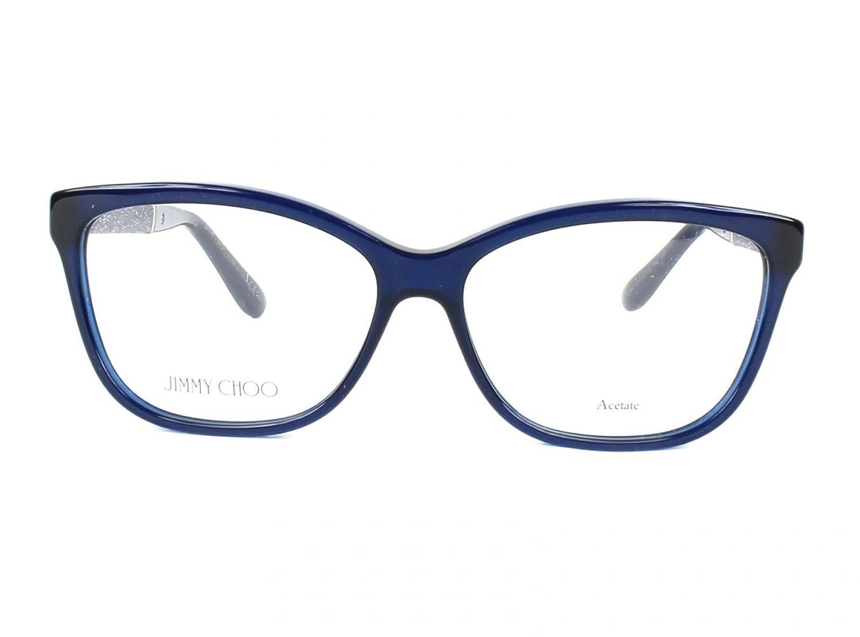 Jimmy Choo - JIMMY CHOO 105, Schmetterling, Acetat, Damenbrillen, BLUE GLITTER(FA7), 55/14/135