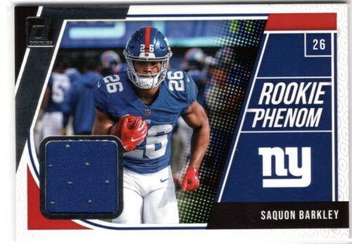 (2018 Donruss Rookie Phenom Jerseys #6 Saquon Barkley Player-Worn Jersey Card - New York Giants)