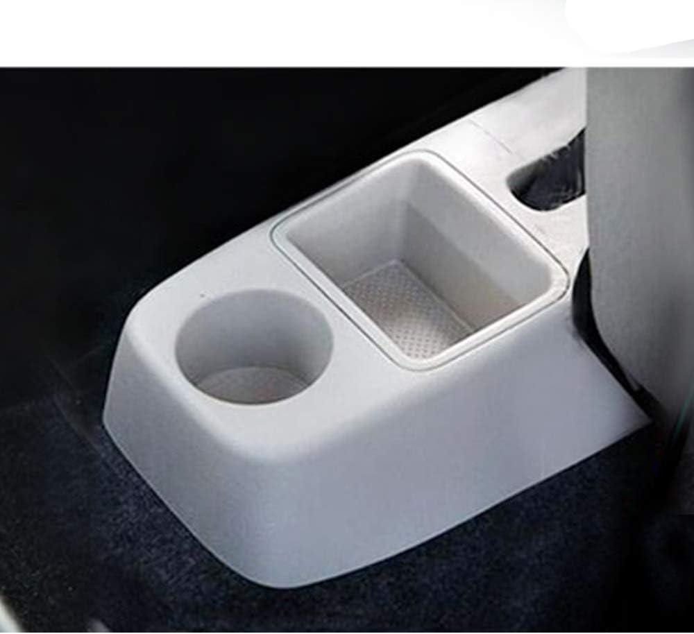Cuir de Voiture Accoudoir Box Accoudoir Rotative pour Fabia//Fabia 2 2008-2014 Organisateur de Stockage de Console Centrale avec Cendrier /& Porte-gobelet /& 7 Ports USB Gris