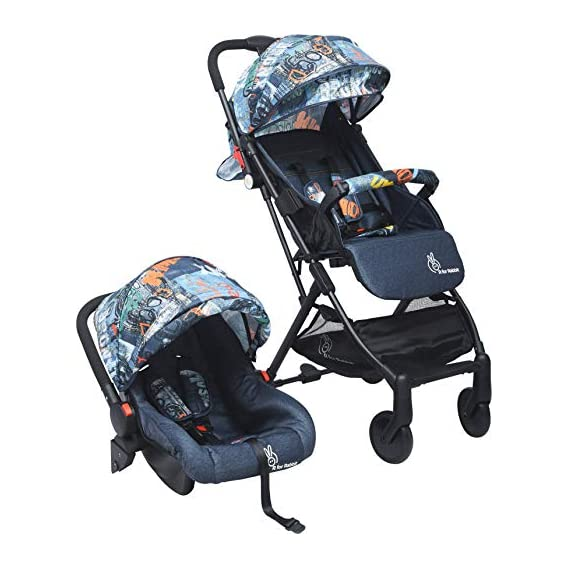 R for Rabbit Pocket Stroller Travel System - The Most Portable Travel System with Stroller and Car Seat (Grey)
