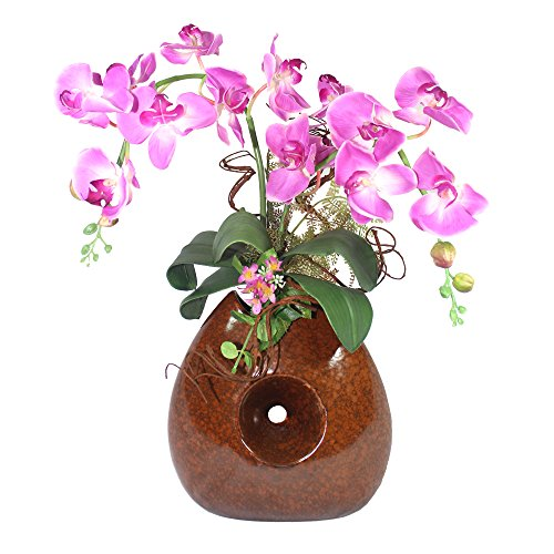 21' Phalaenopsis Orchid (Orchid Flower Arrangement Artificial Silk Flower Pink Phalaenopsis 21'' Inches Height for Home Decoration and Office Decoration)