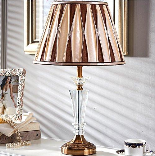 HH Simple Modern Luxury Living Room Bedroom Study Crystal Large Lamp