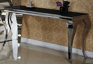 Console  mara noir couloir fair shopping table de
