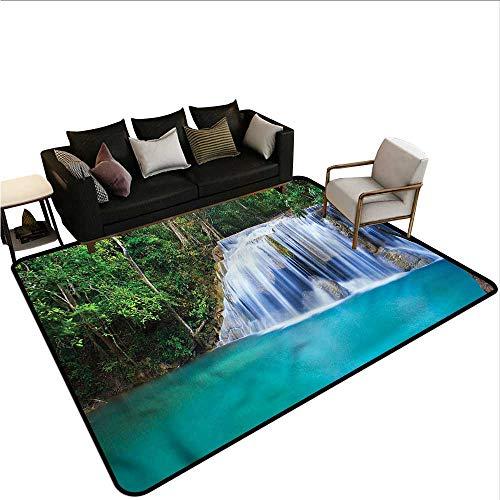 Waterfall,Designed Kitchen Bathroom Floor Mat 36